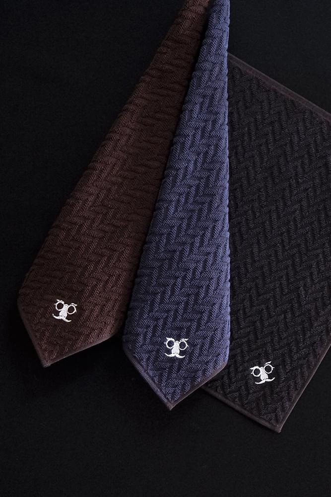 紳士のマエムキタオル(ヘリンボーン) | maemuki towel
